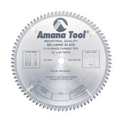 """AM MB10800 - 5/8"""" bore Saw Blades Melamine 10 In x 5/8 x 80"""
