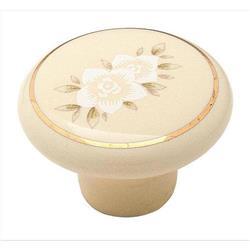 A 14202AL Allison Value 1-1/4 in (32 mm) Dia Cabinet Knob - Almond