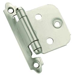 Amerock Self-Closing, Face Mount Hinge with Variable Overlay - Satin Nickel