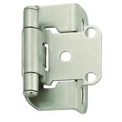Amerock Self-Closing, Partial Wrap Hinge with 1/2 in. (13mm) Overlay - Satin Nickel