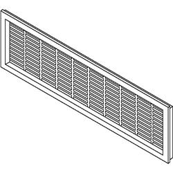 Vent Grill / Brown 8-15/16W x 2-5/8H