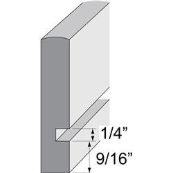 BHK Drawer Blank W/ 1/4 Dado White