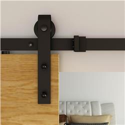 Barn Door Hardware, Prairie Hardware Kit Matte Black