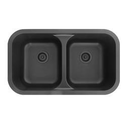 Karran KA Q-350 Quartz Double Equal Bowl Sink Multiple Colors