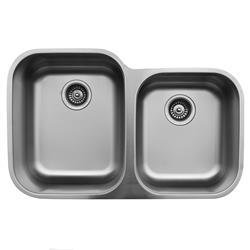 Karran U-6040R Large/Small Bowl Sink Stainless Steel