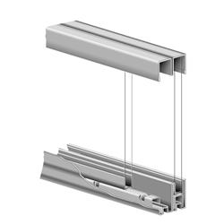 KV P992 ZC 48 Glass Door Roll-Ezy Assembly Zinc