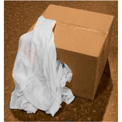 Linen Supply Pure White Rags 25Lbs Box