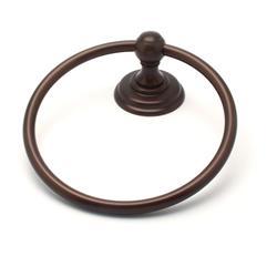 Jefferson Towel Ring Rub Bronze