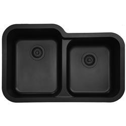 Karran Q-360 Large/Small Bowl Sink Quartz Sink Multiple Colors