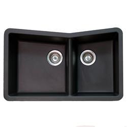 Karran Q-75 Quartz Large and Small Bowl Sink