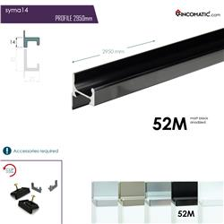 "RincoMatic SYMA Profile Handle14"" / Available in Matte Silver, Inox and Black"