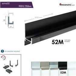 "RincoMatic SYMA32 Profile Handle 32"" / Available in Matte Silver, Inox and Black"