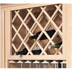 Wood Wine Rack Lattice