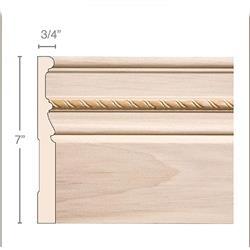 Moulding Baseboard Rope Poplar