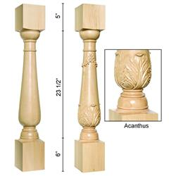 Column Acanthus Maple