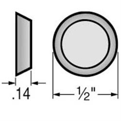 3M Quiet Bumpers (Clear), Round - Flat 56 Card 14H x .5Dia.