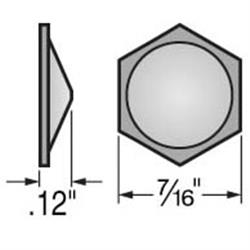 3m Quiet Bumpers (Clear), Hexagon - Peaked 132 Card 12H x .433L