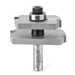 Amana Carbide Tipped Offset Mortise & Tenon for Mission Style Glass Door 2-7/8 Dia x 1-1/8 x 1/2 Inch Shank for 1-1/8 Material