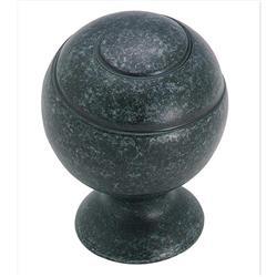 A BP9338WID Swirl'Z 1-1/8 in (29 mm) Dia Cabinet Knob - Wrought Iron Dark