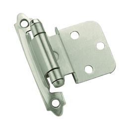 Amerock Self-Closing, Face Mount Hinge with 3/8 in. (10mm) Inset - Satin Nickel