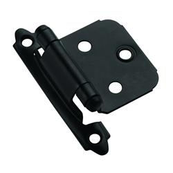 Amerock Self-Closing, Face Mount Hinge with Variable Overlay - Flat Black