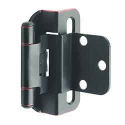 Amerock Self-Closing, Partial Wrap Hinge with 3/8 in. (10mm) Inset - Oil-Rubbed Bronze