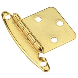 Amerock Non Self-Closing, Face Mount Hinge with Variable Overlay - Polished Brass