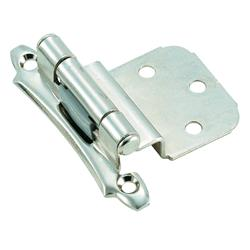 Amerock Self-Closing, Face Mount Hinge with 3/8 in. (10mm) Inset - Polished Chrome