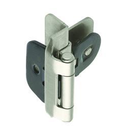 Amerock Double Demountable Hinge with 3/8 in. (10mm) Inset - Satin Nickel