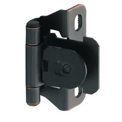 Amerock Single Demountable, Partial Wrap Hingw with 1/4 in. (6mm) Overlay - Oil-Rubbed Bronze