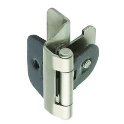 Amerock Double Demountable Hinge with 1/4 in. (6mm) Overlay - Satin Nickel