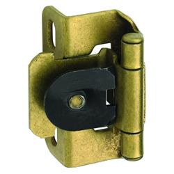 Amerock Single Demountable, Partial Wrap Hinge with 1/2 in. (13mm) Overlay - Burnished Brass