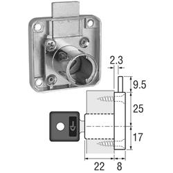 Cyber Locks Housing Square 22MM Brass