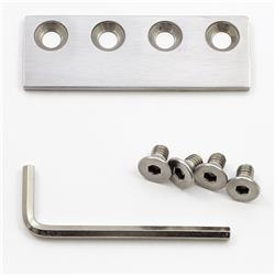 Barn Door Hardware Connecting Device for Flat Track-Stainless Steel