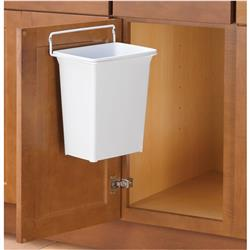 Door Mounted Waste Bin 9-1/2W White