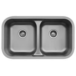 Karran E-350 Double Equal Bowl Sink Stainless Steel