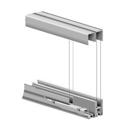 KV P992 ZC 48 Glass Door Roll-Ezy Assembly Zinc