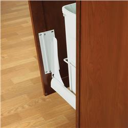Door Mounting Brackets For Waste Bins White
