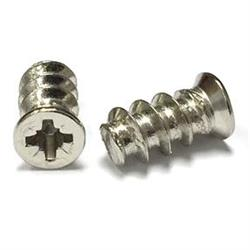 Screw Pozidrive Euro Flat Head Nickel