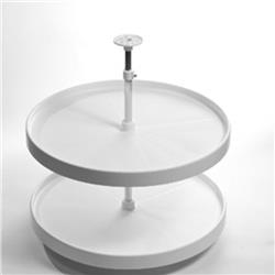 "Lazy Susan Set Full Round White 18"" Diameter - White"