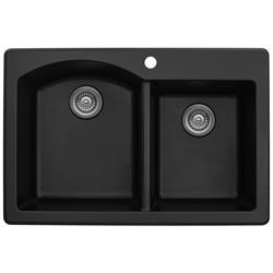 Karran QT-610 Quartz Large/Small Bowl Sink Multiple Colors
