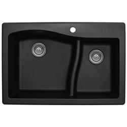Karran QT-630 Quartz Large/Small Bowl Sink Multiple Colors