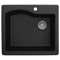 Karran QT-671 Quartz Single Bowl Sink Multiple Colors