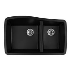 Karran QU-721 Quartz Black Large/Small Bowl Sink- Available in Many Colors