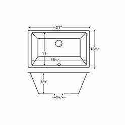 Karran VC-108 Undermount ADA Compliant Vanity Bowl Sink/ Vitreous China