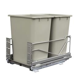 Kessebohmer Double Pull-Out Bottom Mounted Waste Bin Bulk Pack 16 Pieces Chrome/Brown Bins