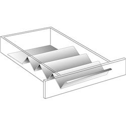 Spice Drawer Organizer White