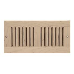 Self Rimming Floor Vent Alder