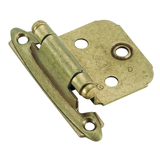 Amerock Self-Closing, Face Mount Hinge with Variable Overlay - Burnished Brass