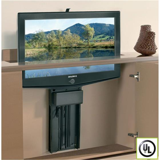 Tv lift plasma 29 5 inch travel 200lbs capacity holdahl - Vertical sliding tv mount ...